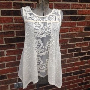 "Altar""d State Cream Sleeveless Tunic"